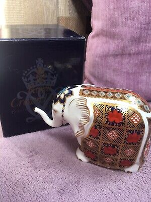 Royal Crown Derby Old Imari Elephant Paperweight • 43£