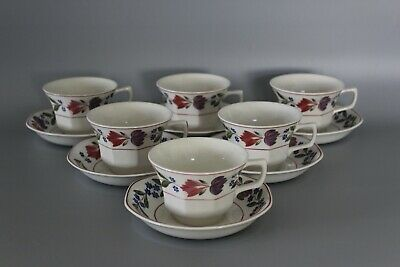 Set Of 6 Adams Old Colonial Tea Cups & Saucers • 20£