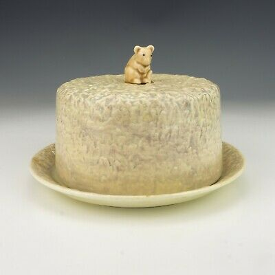 Vintage SylvaC Pottery - Mouse Decorated Stilton Cheese Dome - Lovely! • 14.99£