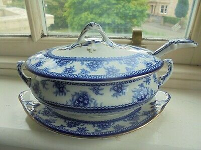 Antique Wood & Sons  Torbrex  Pattern Sauce / Gravy Tureen With Base And Ladle • 28£