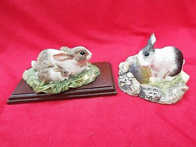 BESWICK  Bright Eyes  And  Contentment  Rabbits Two Studio Sculptures • 8.99£