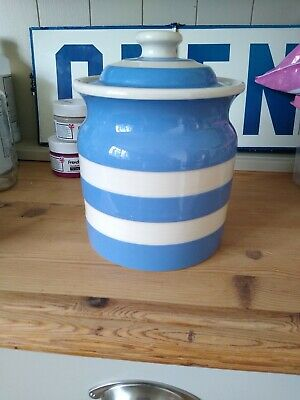 Lovely Large T G Green Cornishware Cornish Blue Biscuit/pasta Jar With Lid • 0.99£