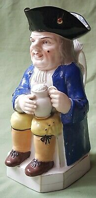 Nice Early Pottery Toby Jug, By Samson. Gold Anchor Mark • 10£