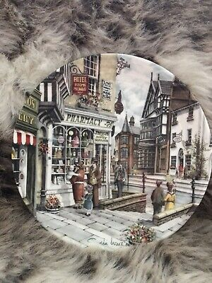 Royal Doulton Window Shopping Series Collectors Plate The Pharmacy • 2.99£