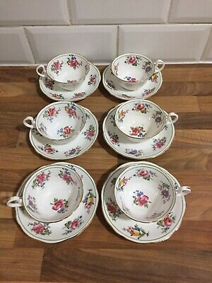 Set Of 6 Aynsley Tea Cup And Saucers Great Condition • 69£