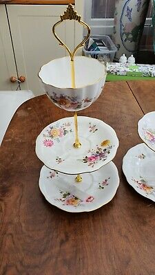 Royal Crown Derby Posies Bone China 3 Tier Cake Stand • 10£