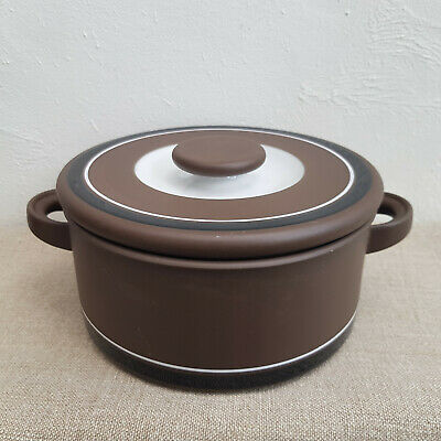 1970s Hornsea Contrast 7.5  Casserole - Covered Serving Dish - Vintage Stoneware • 18£