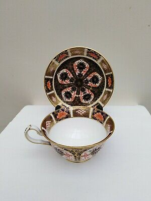 Beautiful Royal Crown Derby Imari Traditional Tea Cup And Saucer 1st Quality • 0.99£