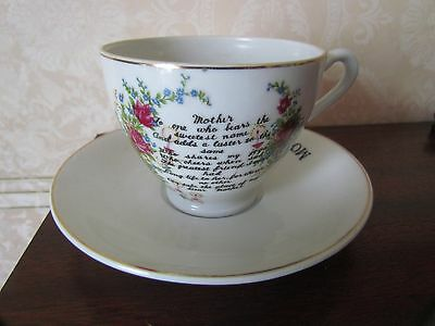 Vintage 'Mother' China Cup & Saucer • 5.50£