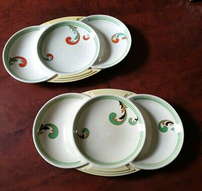 Royal Doulton Art Deco Very Rare Pair Matching Original Lynn Serving Dishes  • 50£