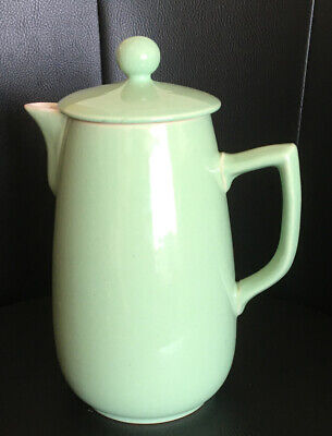 Beautiful Green Stoneware Large Coffee Pot. Excellent Condition 9.5 Inches Tall • 5.99£