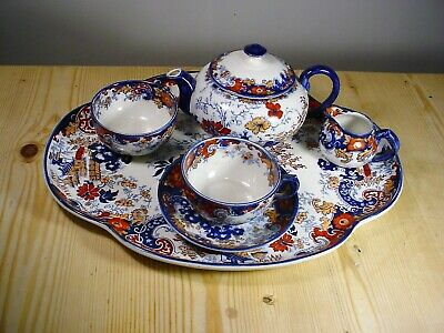 Antique Ridgway Chinese Japan Corey Hill Tea Set On Tray 5619 • 50£
