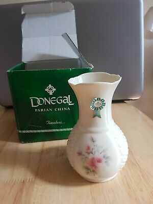 Irish Donegal Parian China 'Kerry Rose' Bud Vase -NEW In BOX • 3.50£