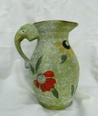 Large  Vintage Decorative Hand Painted  Ceramic Vase With Elephant Handle Rare • 24.99£