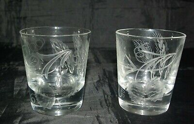 A Pair Of Cut Crystal Whisky Tumblers Spirit & Mixer Rye Whiskey Glasses Scarce • 20£