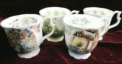 Complete Set Of 4 Royal Doulton Brambly Hedge Seasons Mugs Cups Beakers • 99.99£