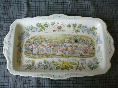 Royal Doulton Brambly Hedge 'The Picnic' Sandwich Plate • 124.99£