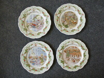 Royal Doulton Brambly Hedge Midwinter Plates  Snowball, Discovery, Supper, Enter • 94.99£