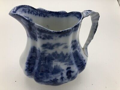 Antique Victorian Middleport Pottery Burgess & Leigh Nonpareil Flow Blue Jug  • 29.99£
