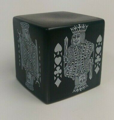 Rare Vintage Purbeck Pottery Playing Card Design Money Box 1960s Good Condition • 18£