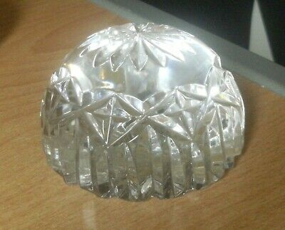Unbranded Heavy Cut Clear Glass Half Sphere Paperweight 400 Grams    • 6.99£