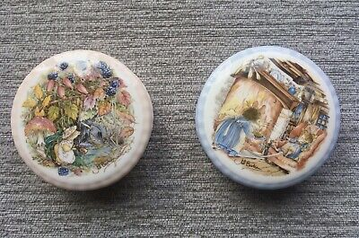 Royal Doulton Trinket Box X 2 Autumn And Winter • 12.65£