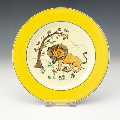 Royal Staffordshire Wilkinson Pottery - Clarice Cliff Kiddies Ware Lion Plate • 21£