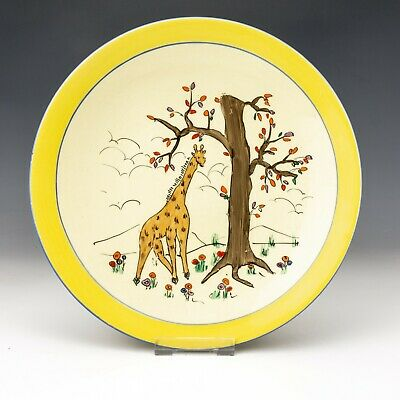 Royal Staffordshire Wilkinson Pottery - Clarice Cliff Kiddies Ware Giraffe Plate • 21£