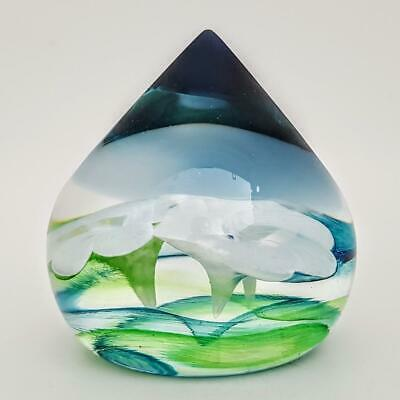 Caithness Art Glass Water Lilies Paperweight Limited Edition 45/250 • 9.95£