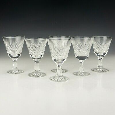 Vintage Set Of Cut Crystal Glass - Liquor Small Wine Drinking Glasses - Lovely! • 9.99£