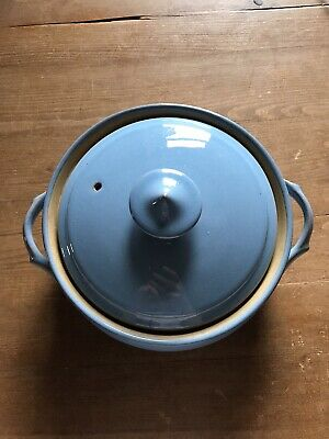 Denby Colonial Blue Pot • 1.99£
