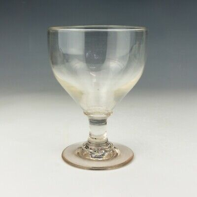 Antique Georgian Glass Hand Blown Rumer Rummer Drinking Glass - Lovely! • 3.86£