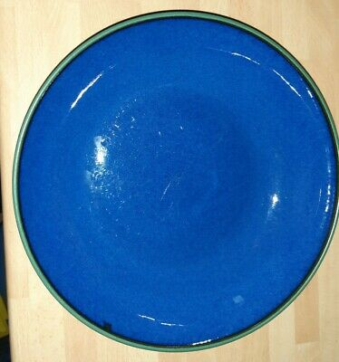 Denby Metz Bowl Blue With Green Rim 8.75 Inches • 11.90£