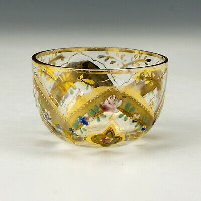 Antique Venetian Murano Gilded Garland Decorated Bowl - Lovely! • 9.99£