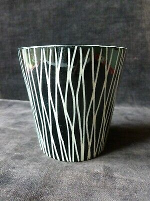 Clayburn Pottery Pot / Beaker Monochrome Tonga Style Pattern Midwinter 1953 • 18.99£