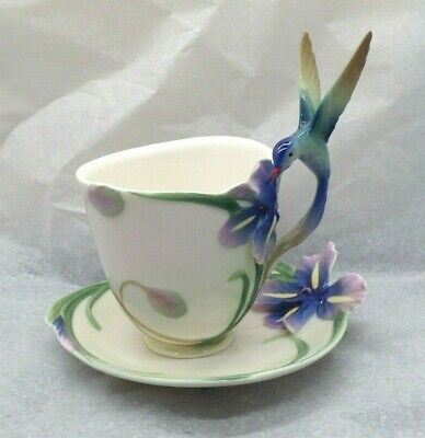 Lovely Very Rare Franz Hummingbird Porcelain Cup And Saucer FZ00129 SU1336 • 80£