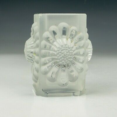 Vintage Lalique French Glass - Sunflower Frosted Glass Vase - Art Deco! • 7.50£