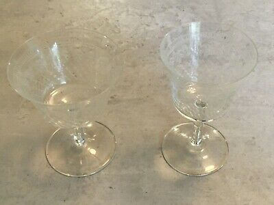 2 Odd Pall Mall / Lady Hamilton Glasses (one Sherry, One Champagne Coup) • 4.99£