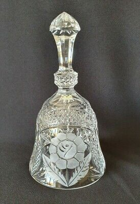 Crystal Glass Hand Bell Decorated With A Flower • 20£