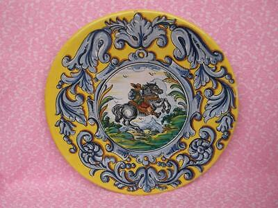 1180 / Vintage Spanish Talaera Faience Hand Painted Pottery Charger • 29.99£