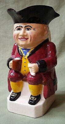 Antique Devonmoor Pottery Toby Jug, Initialled 'JH' • 25£
