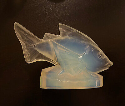 "Sabino Signed Art Glass Opalescent Crystal Fish ""Poisson Barbarin"" • 77.35£"