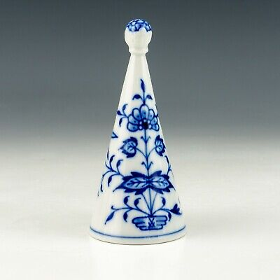 Antique Meissen Dresden Porcelain - Onion Pattern Candle Snuffer - Unusual! • 7.50£
