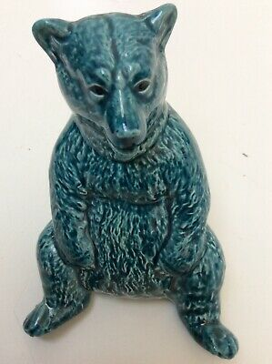 Poole Zone  Pottery 5  Blue Bear Figurine  Preowned Unboxed (850D25) • 5.50£