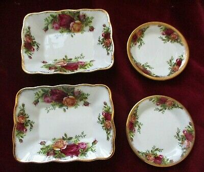 4 X Royal Albert Old Country Roses Pin Trinket Sweet Dishes  • 8.99£