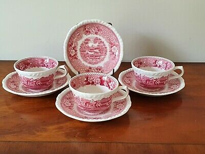 3    Adams 'english Scenic'   Cups And Saucers + One Extra Saucer • 12.50£