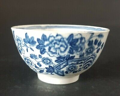 18th C. Dr Wall 1st Period Worcester Porcelain Small Tea Bowl • 20£
