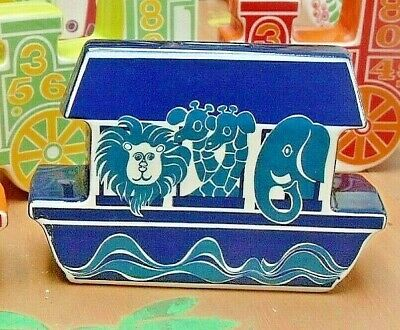 Vintage Retro Carlton Ware Money Box Bank Noah's Ark Blue • 49.95£