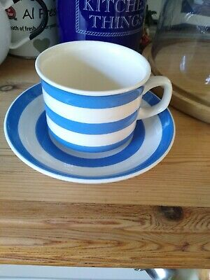 Beautiful T G Green Cornishware Cup And Saucer • 0.99£