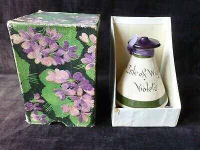 Isle Of Wight Violets Torquay Devon Ware Vintage Perfume Bottle Boxed • 14.99£